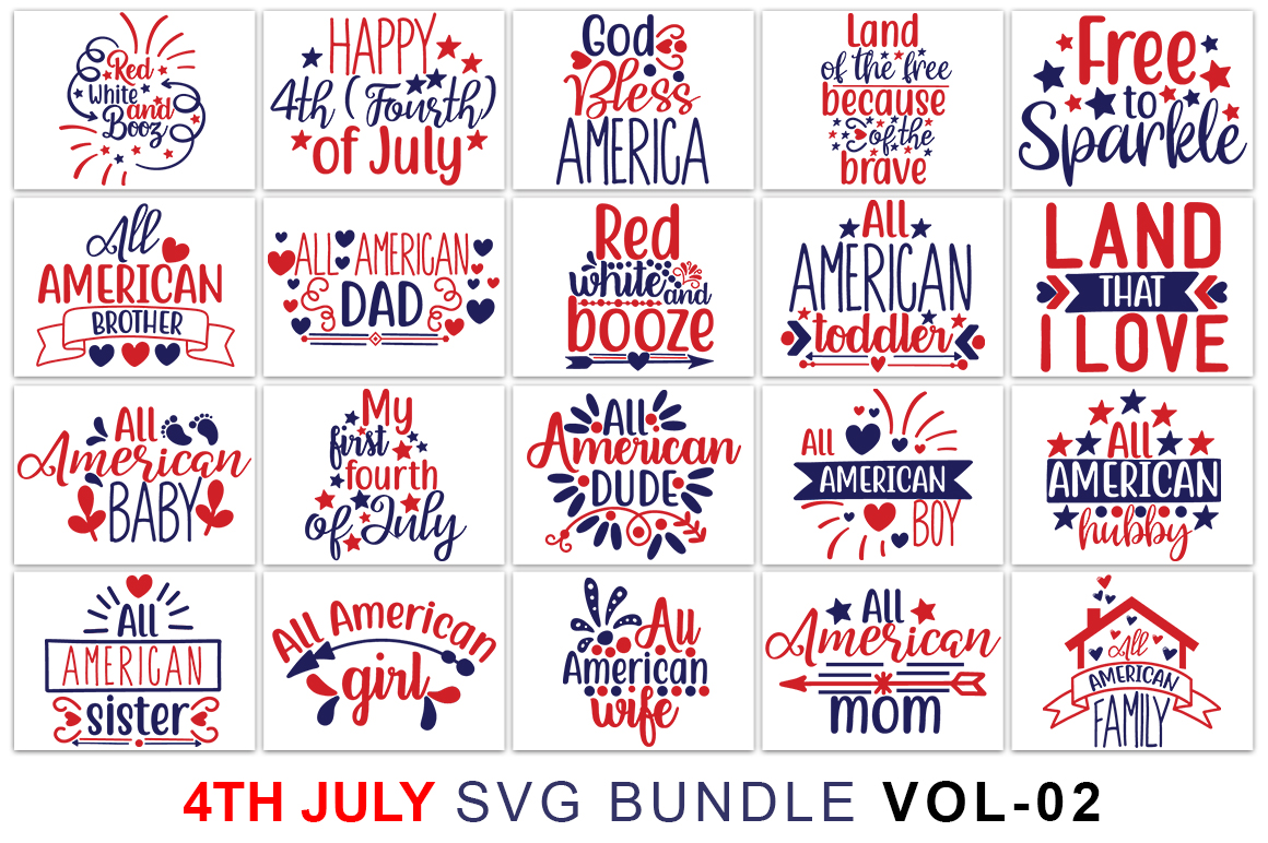 Fourth Of July Svg Bundle Graphic By Graphicsqueen Creative