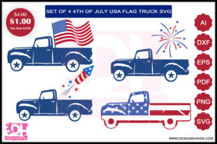 Fourth of July Truck Bundle Graphic By DesignsHavenLLC