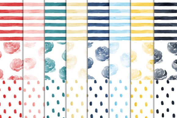 Print on Demand: French Chic Backgrounds Graphic Illustrations By swiejko - Image 2