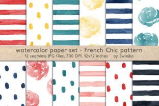 French Chic Backgrounds Graphic By swiejko