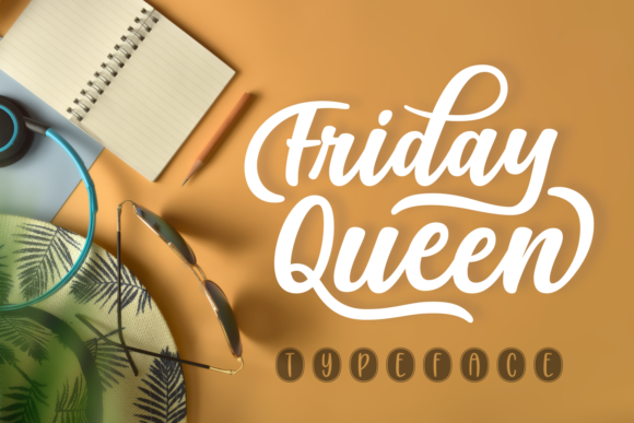 Print on Demand: Friday Queen Script & Handwritten Font By Situjuh