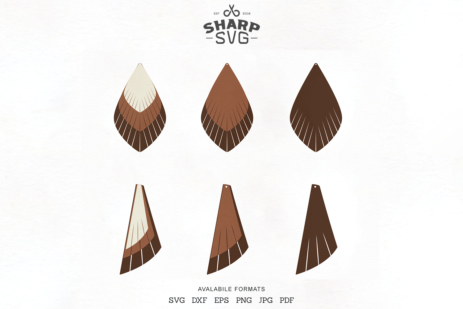 Download Free Fringe Earrings Leather Earrings Graphic By Sharpsvg Creative for Cricut Explore, Silhouette and other cutting machines.