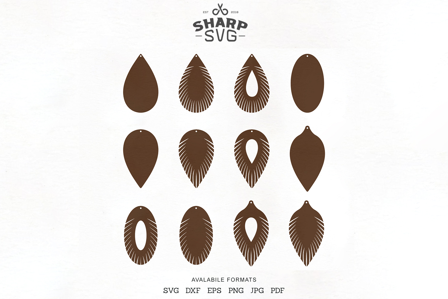 Download Free Fringe Leather Earrings Earrings C Graphic By Sharpsvg for Cricut Explore, Silhouette and other cutting machines.