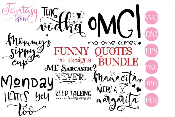 Download Free Funny Bundle Graphic By Fantasy Svg Creative Fabrica for Cricut Explore, Silhouette and other cutting machines.