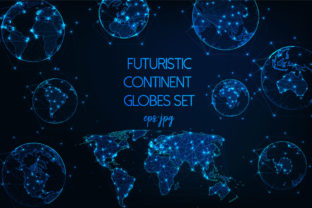 Download Free Futuristic Continent Globes Set Graphic By Inkoly Art Creative for Cricut Explore, Silhouette and other cutting machines.