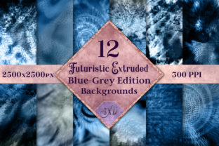 Futuristic Extruded BlueGrey Backgrounds Graphic By SapphireXDesigns