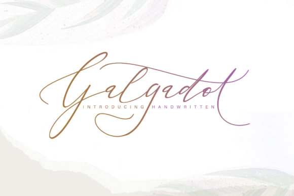 Print on Demand: Galgadot Script & Handwritten Font By thomasaradea