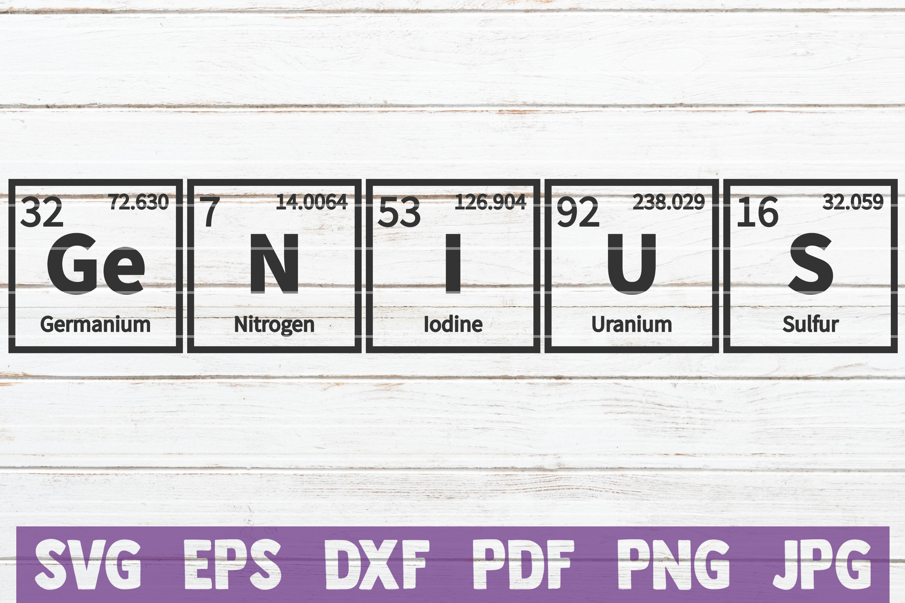 Genius Periodic Table Svg Cut File Graphic By Mintymarshmallows