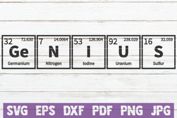 Genius Periodic Table Cut File Graphic Graphic Templates By MintyMarshmallows