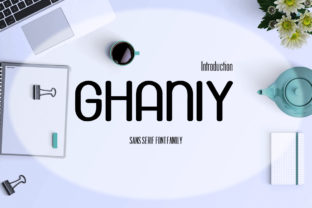 Ghaniy Font By InDhika