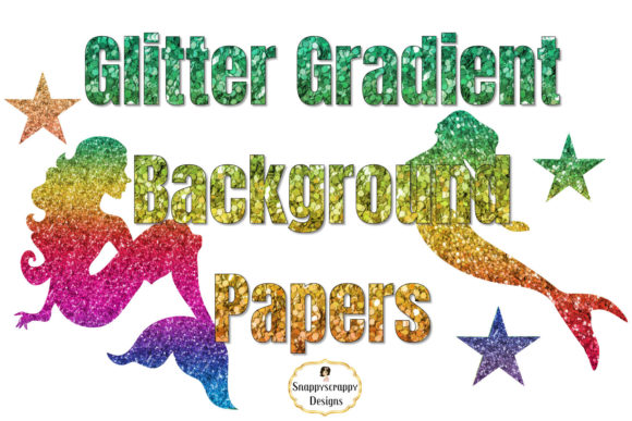 Glitter Gradient Background Papers Graphic By Snappyscrappy Image 2