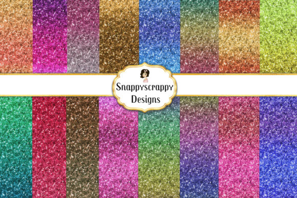 Glitter Gradient Background Papers Graphic Backgrounds By Snappyscrappy - Image 1