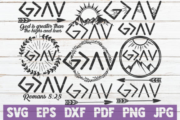 Download Free God Is Greater Svg Bundle Svg Files Graphic By for Cricut Explore, Silhouette and other cutting machines.