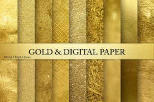 Gold Foil Glitter Textures, Backgrounds Graphic By artisssticcc