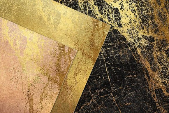Gold Marble Digital Paper Graphic By artisssticcc Image 2