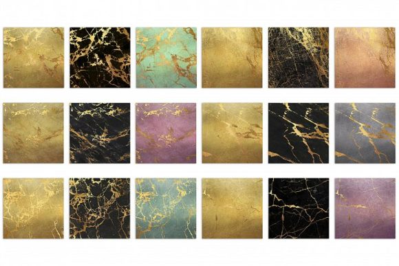 Gold Marble Digital Paper Graphic By artisssticcc Image 3