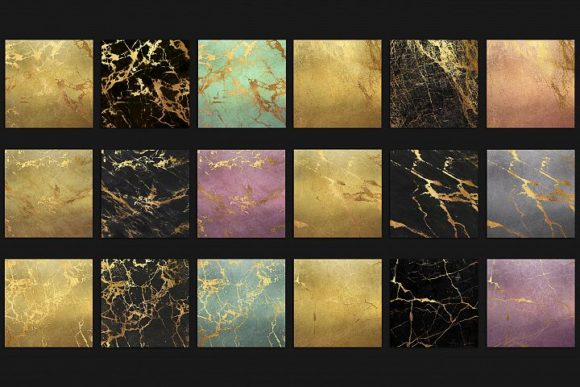 Gold Marble Digital Paper Graphic By artisssticcc Image 4