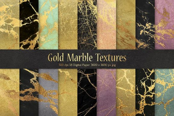 Gold Marble Digital Paper Graphic By artisssticcc Image 1