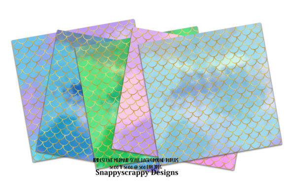 Gold Mermaid Scales Background Papers Graphic Backgrounds By Snappyscrappy - Image 2