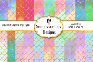 Download Free Gold Mermaid Scales Background Papers Graphic By Snappyscrappy for Cricut Explore, Silhouette and other cutting machines.