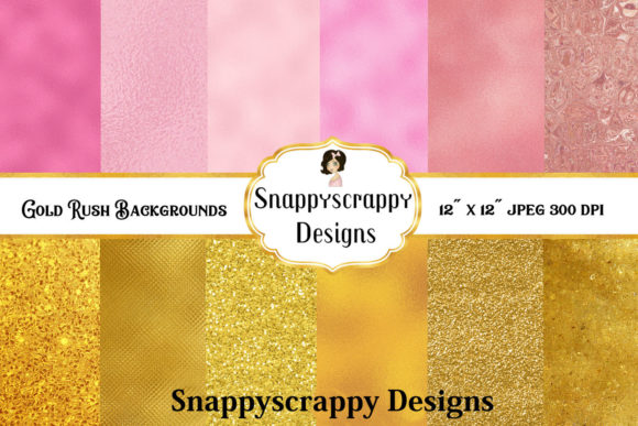 Gold Rush Backgrounds Graphic By Snappyscrappy Image 1