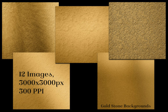 Print on Demand: Gold Stone Backgrounds - 12 Images Graphic Backgrounds By SapphireXDesigns - Image 2