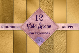 Gold Stone Backgrounds - 12 Images Graphic By SapphireXDesigns