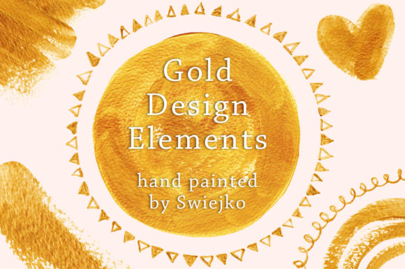 Print on Demand: Golden Elements Graphic Illustrations By swiejko