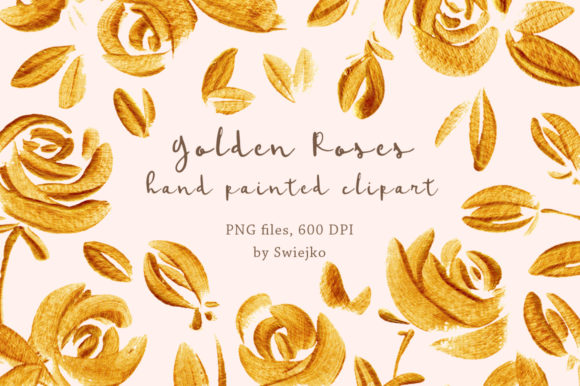 Download Free Golden Roses Graphic By Swiejko Creative Fabrica for Cricut Explore, Silhouette and other cutting machines.