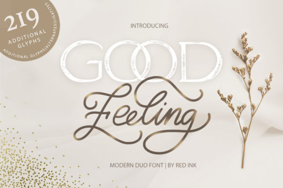Good Feeling Script & Handwritten Font By Red Ink