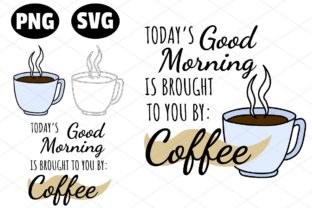 Download Free Good Morning Coffee Cup Illustration Set Graphic By for Cricut Explore, Silhouette and other cutting machines.