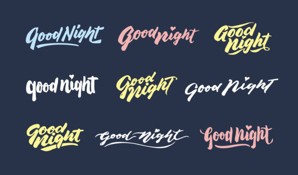 Print on Demand: Good Night Lettering Compilations Gráfico Crafts Por Brothers Graphic
