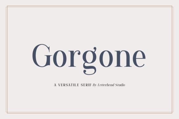 Print on Demand: Gorgone Serif Font By letterhend
