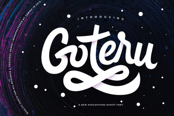 Print on Demand: Goteru Script & Handwritten Font By Vunira