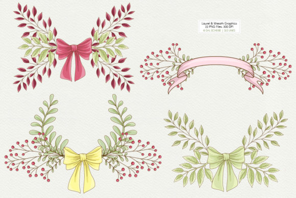 Print on Demand: Graphic Laurels & Wreaths Clipart Graphic Illustrations By SLS Lines - Image 2