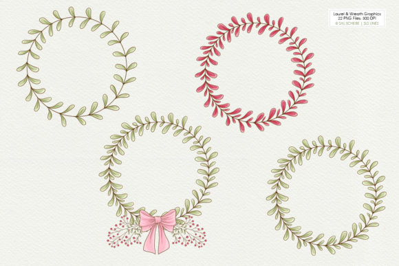 Print on Demand: Graphic Laurels & Wreaths Clipart Graphic Illustrations By SLS Lines - Image 3