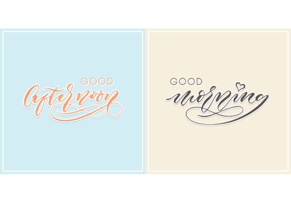 Download Free Greating Good Morning And Afternoon Graphic By Brothers Graphic for Cricut Explore, Silhouette and other cutting machines.