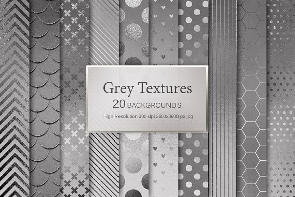 Print on Demand: Grey Textures Grafik Muster von Creative Paper
