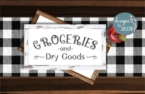 Print on Demand: Groceries and Dry Goods VIntage Style Graphic Crafts By Designs by Jolein