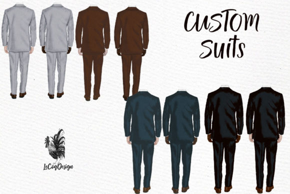 Groom Clipart Wedding Clipart Graphic Illustrations By LeCoqDesign - Image 2