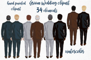 Print on Demand: Groom Clipart Wedding Clipart Graphic Illustrations By LeCoqDesign
