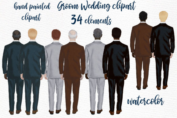 Groom Clipart Wedding Clipart Graphic Illustrations By LeCoqDesign - Image 1