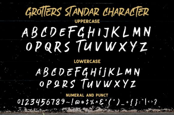 Print on Demand: Grotters Script & Handwritten Font By ergibi studio - Image 9