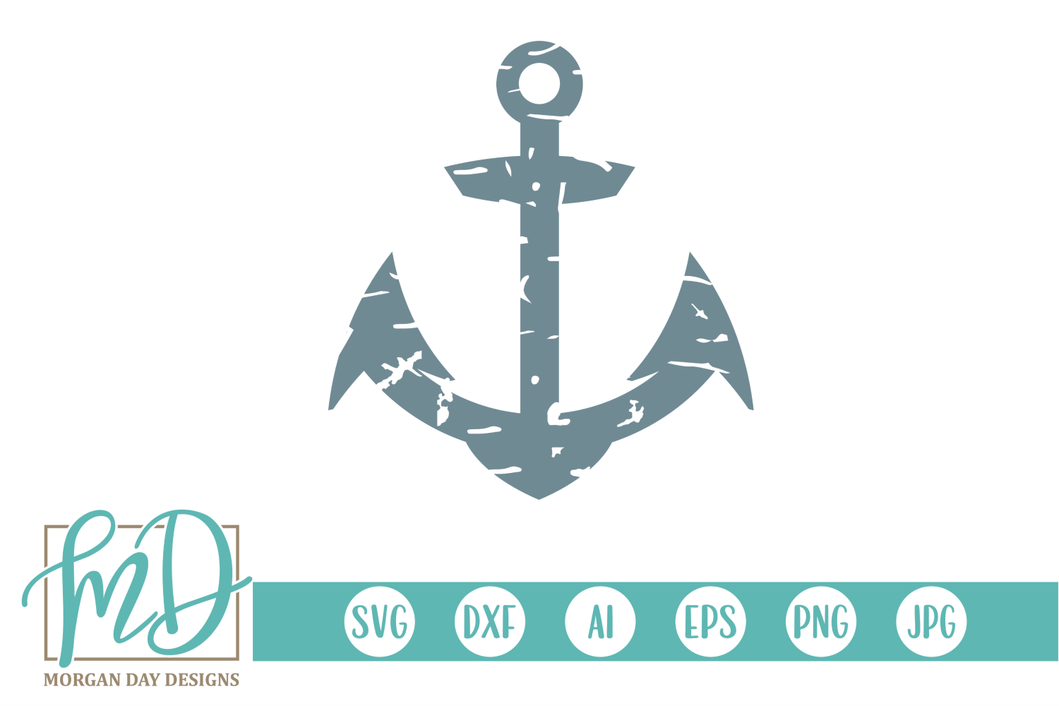 Download Free Grunge Anchor Graphic By Morgan Day Designs Creative Fabrica for Cricut Explore, Silhouette and other cutting machines.