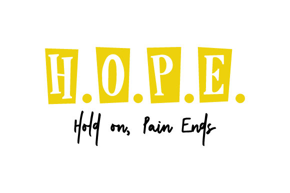 Download Free H O P E Hold On Pain Ends Svg Cut File By Creative Fabrica for Cricut Explore, Silhouette and other cutting machines.