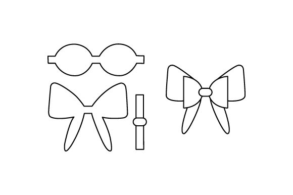 Hair Bow Template Svg Cut File By Creative Fabrica Crafts