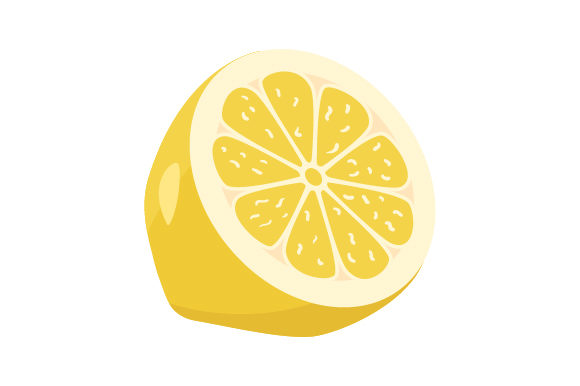 Half a Lemon Food & Drinks Craft Cut File By Creative Fabrica Crafts