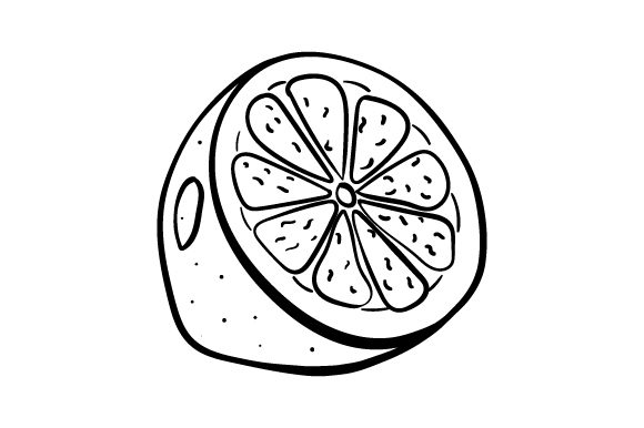 Download Free Half A Lemon Line Art Svg Cut File By Creative Fabrica Crafts for Cricut Explore, Silhouette and other cutting machines.