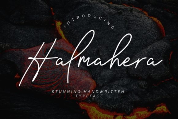 Print on Demand: Halmahera Script & Handwritten Font By CreatypeStudio