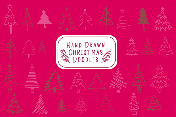 Hand Drawn Christmas Doodles Graphic Illustrations By carrtoonz